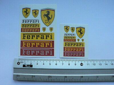 Ferrari 2 sheets water transfer decals aufkleber set