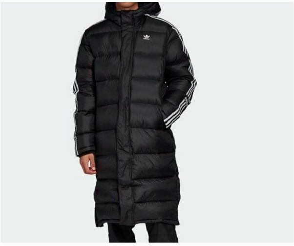 Adidas Originals Long Down Winter Coat, Parka, Puffer Black Jacket Men's FL0007