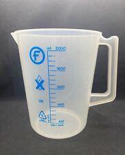 Laboratory Plastic 2000ml Graduated Beaker With Handle Pour Spout