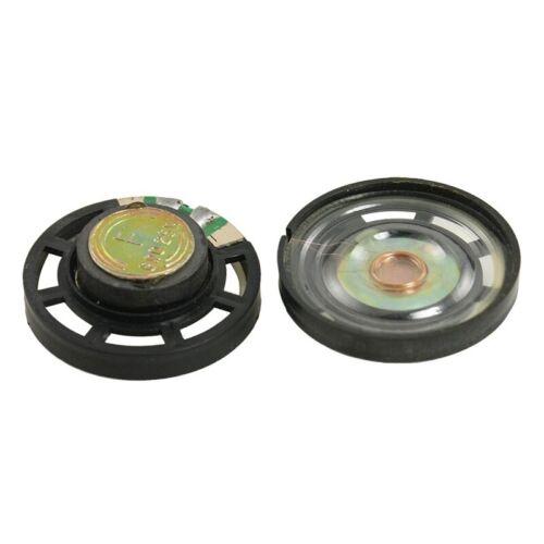 2 Stueck 29 mm 8 Ohm 0,25W Externe Magnettyp Rund Schlank Plastic Lautsprec H3Y5