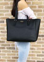 Kate Spade Jackson Street Denise Tote Black Pebble Leather