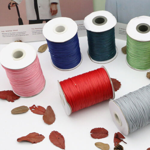 159metres x 1mm Round Waxed Thread Cord Jewlery Bracelet Making String Thread