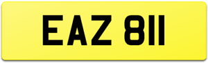 EAZ 811 SHORT DATELESS 6 DIGIT CAR REG NUMBER PLATE / EAZY EEZI EASY EA EAZI EEZ