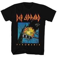 Pyromania Target Def Leppard English Rock Band Heavy Metal Hard Rock T-shirt