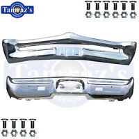 1967 Gto Front & Rear Chrome Bumper Kit With Bumper Bolts