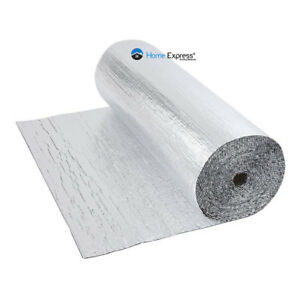 Double Foil Single Bubble Wrap Aluminum Insulation Roll 1.2m x 50m Loft Wall