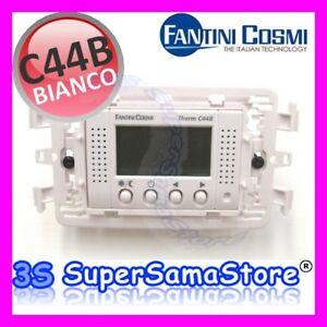 3s termostato incasso lcd c44 b fantini e cosmi bianco ebay for Fantini cosmi ch110