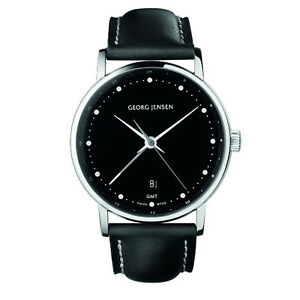 Georg-Jensen-Men-039-s-Dual-Time-Watch-519-Black-Dial-KOPPEL