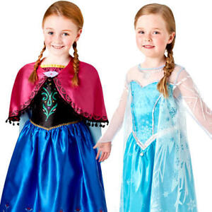 SIZE 3 TO 8 BNWT GIRLS PRINCESS FROZEN ELSA FANCY DRESS  COSTUMES