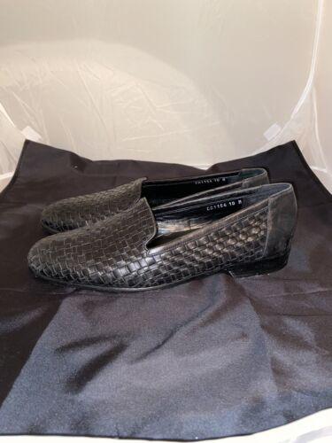 Cole Haan Bragano Italian Weave Black Leather Loaf