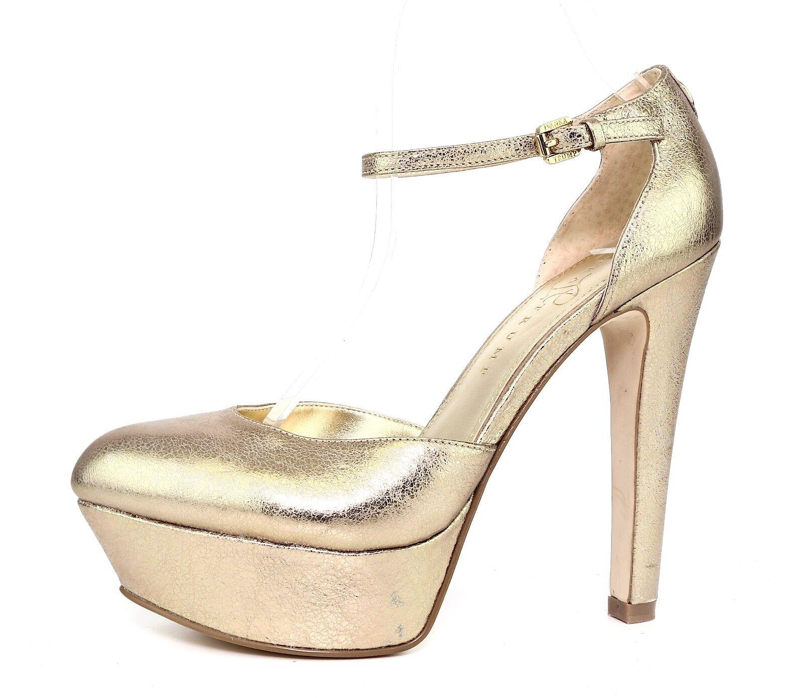 Ivanka Trump Nala Pelle Pump Gold Donna Sz 6.5 M 3061