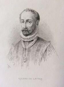 Roland-de-Lattre-1532-1594-compositeur-Musique-gravure-1868-Roland-de-Lassus
