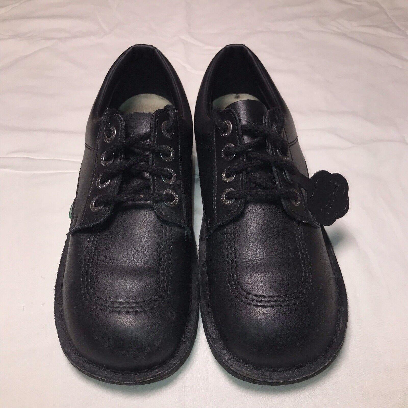 Kickers Kick Lo Core Lace-Up Shoes, Size 8UK - Black