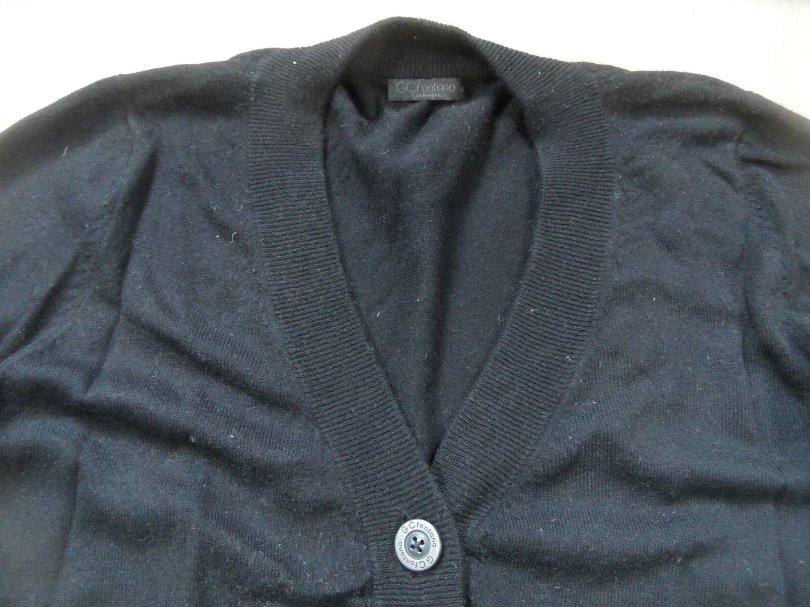 GC Fontana bel bel bel Pullover con Bottoni M. Cashmere Nero Mis. 38 Top bi418 02e4d6