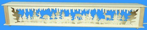 Schwibbogenerhöhung mit Rehe und Hirsch Größe =72x10cm NEU Zubehör  Lichterbogen
