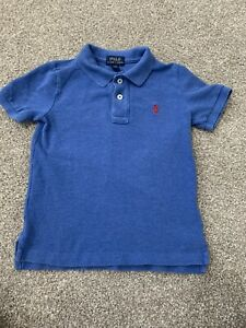 Polo-Ralph-Lauren-Boys-4-4T-Blue-Heather-Button-Down-Polo-Shirt