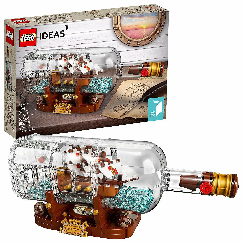 LEGO Idéer för fkonstyg Flaska 962Pc Expert Building Kit Captain Cannons Mast Sails Flag