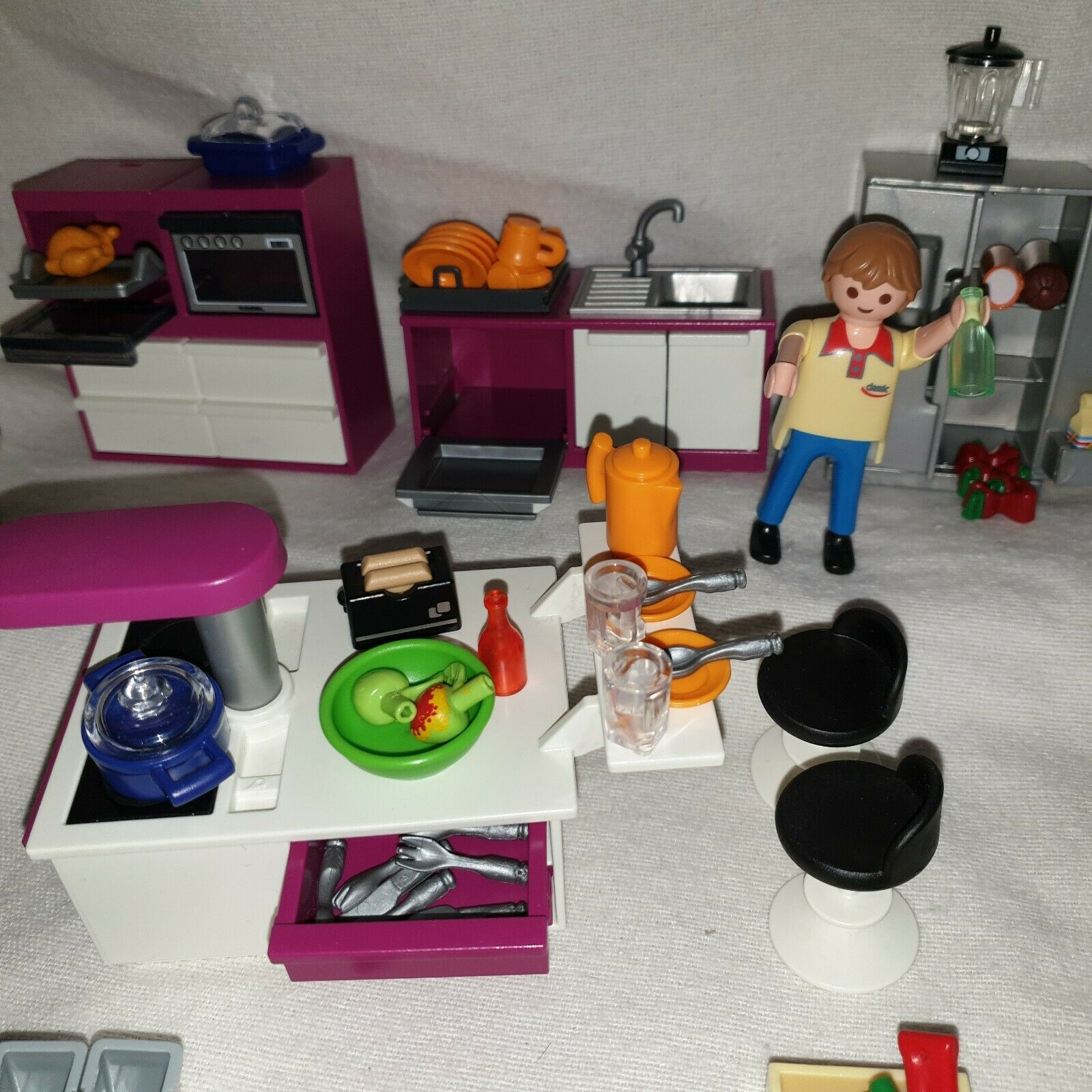 Playmobil 5582 Küche zur Luxusvilla Figuren City Life Life Life ...