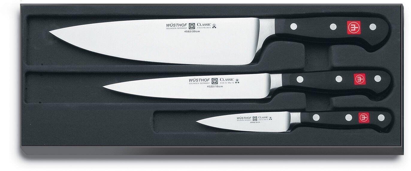 Wusthof 9608 - Three Piece Cook's Set - 3 1 2  Paring Knife, 6  Utility Knife