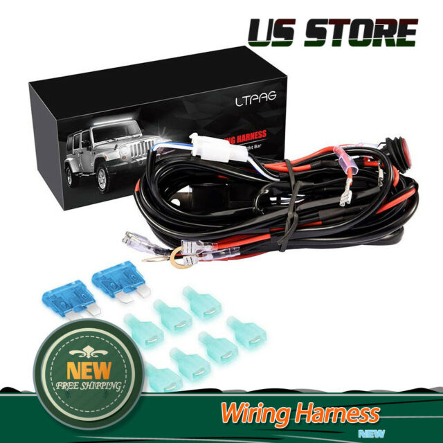 Universal 4 Lead LED Light Bar Wiring Harness Kit With Fuse on / off Switch  12v for sale online | eBayeBay