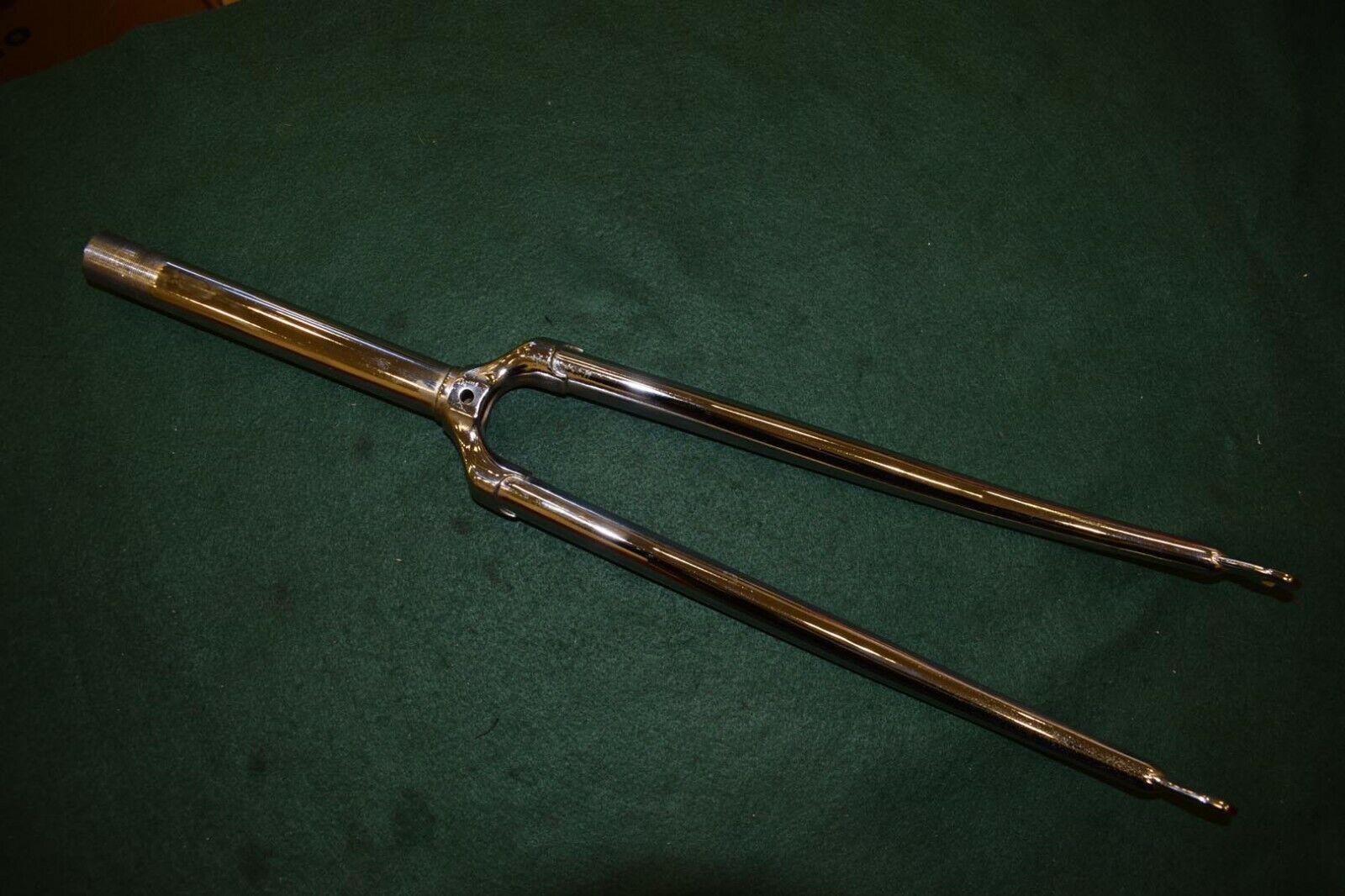 1  Tenedor De Acero Cromo 180mm Mercier tubo de dirección longitud roscada Vintage 1970s Nuevo Viejo Stock