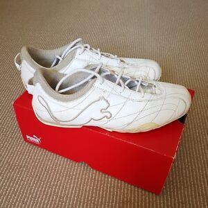 PUMA-White-Safari-Beige-Sneakers-SIZE-8-Women-039-s