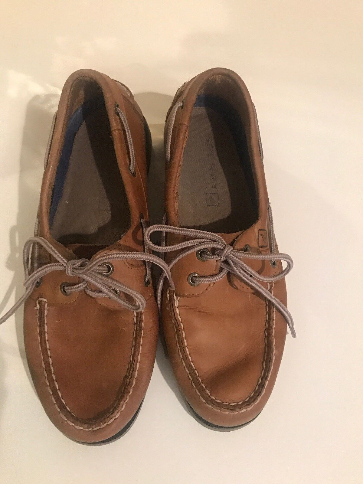 Men's Sperry Original Two Eye Leather Boat shoes Tan Size 8