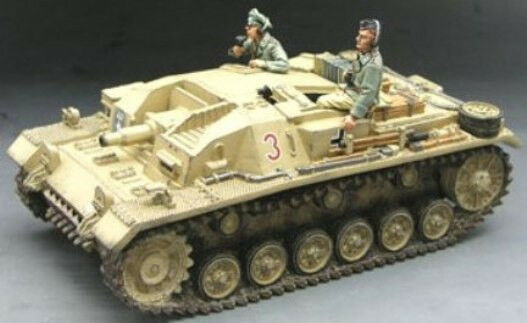 KING & COUNTRY AFRIKA KORPS AK038 WW2 GERMAN STUG II ASSAULT TANK MIB