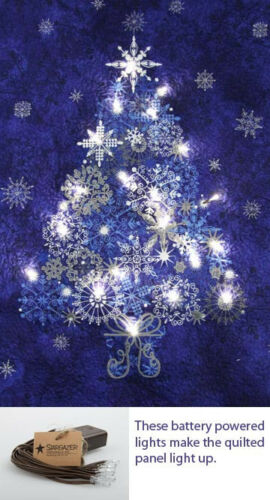 Northcott Fabric Twilites Twinkle Lites Battery Christmas Light up your Project