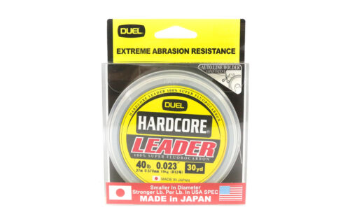 Yo Zuri Hardcore Fluorocarbon Leader 30yds 40lb 0.57mm R1255-NC 1095