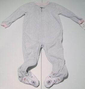 b12a15aa4d Image is loading Carter-039-s-Fleece-Bunny-Footed-Blanket-Sleeper-