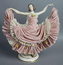 Dresden Volkstedt Ackermann & Fritze figurine Dancing Lady WorldWide