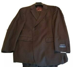 Dk Brown Austin Reed London New Unaltered Suit Super 100 44 Regular Untailored Ebay