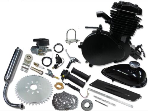 Motorized Bicycle New 2014 Model**MUCH FASTER**Black 66//80cc Bicycle Engine Kit
