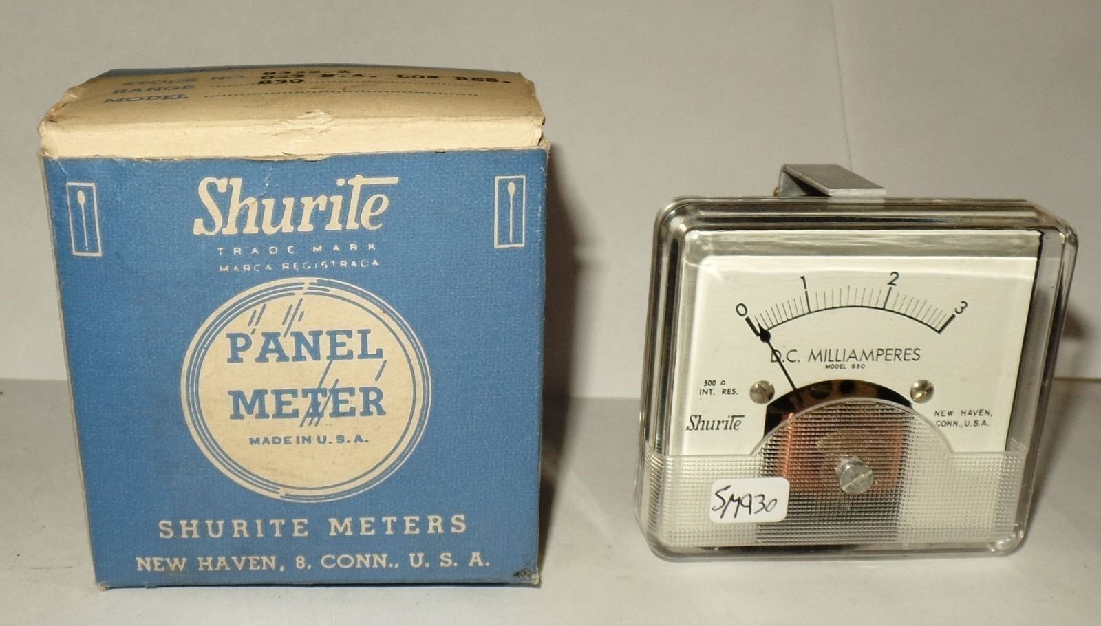 Nos-Nib Shurite Dc Quadrata Pannello Metro Amperometro Milli Amplificatori