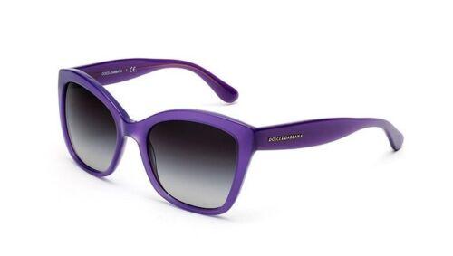 Dolce /& Gabbana Women Cat Eye Sunglasses DG4240 2914//8G Purple Frame Grey Lens