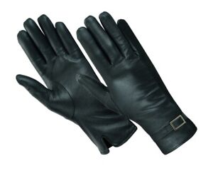 SOFT-SUPPLE-LADIES-THINSULATE-LINED-QUALITY-BLACK-REAL-LEATHER-FITTED-GLOVES
