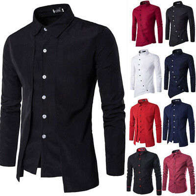 pretty cool new arrivals watch Luxury Mens Classic Long Sleeve Shirt Formal Casual Smart Slim Fit Stylish  Tops | eBay