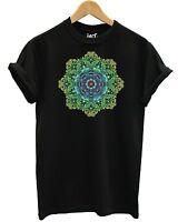 Coloured Mandala T Shirt Fashion Rainbow Pastel Pattern Tattoo Sacred Flower