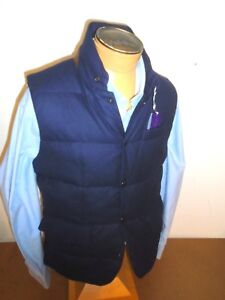 Lloyd Blu Ralph Gilet Purple Piumino Lana Lauren Label Shell Navy CXq4X