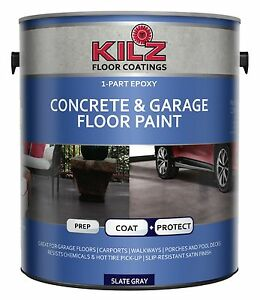 Kilz 1 part epoxy acrylic interior exterior concrete garage floor paint sa ebay - Acrylic paint exterior plan ...