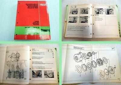 Deutz DX 145 Reparaturanleitung Werkstatthandbuch Getriebe TW91.10 1981