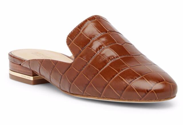 f4d16e266201 New in Box- 140 MICHAEL Michael Kors Natasha Luggage Croc Embossed Mule  Size 6