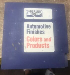 Sherwin Williams Auto Paint >> 1985 1990 Sherwin Williams Auto Finishes Color Manual Automotive