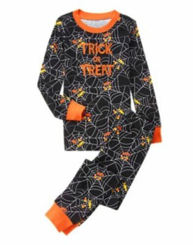 NWT GYMBOREE BOY GYMMIES Spider Trick or Treat PAJAMAS Halloween 18-24M 2T 7 12