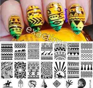 Aztec Pattern Nail Art Stamp Template Image Plate BORN PRETTY BP ...