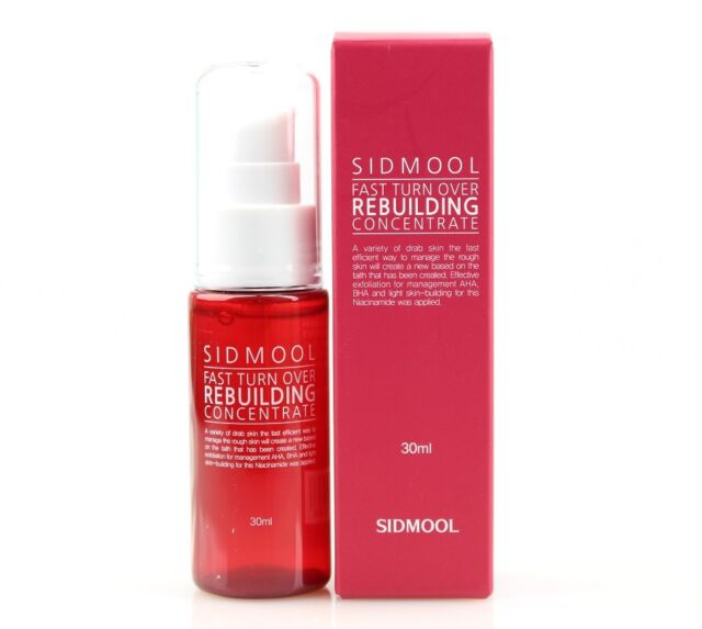 Sidmool Fast Turn Over Rebuilding Concentrate Serum 1.06 oz New Free Shipping