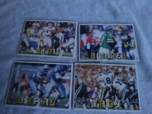 1994-PACIFIC-TRIPLE-FOLDER-Football-CARDS-Barry-Sanders-Troy-Aikman-Jim-Kelly