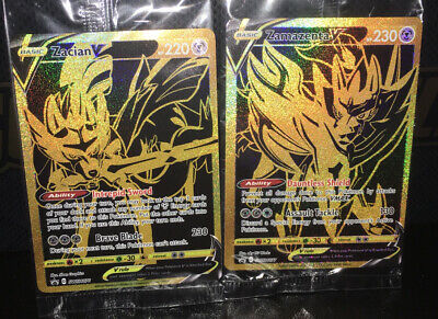 Premium PROMO 1x Pokemon SEALED Zacian V GOLD Mint New SWSH076
