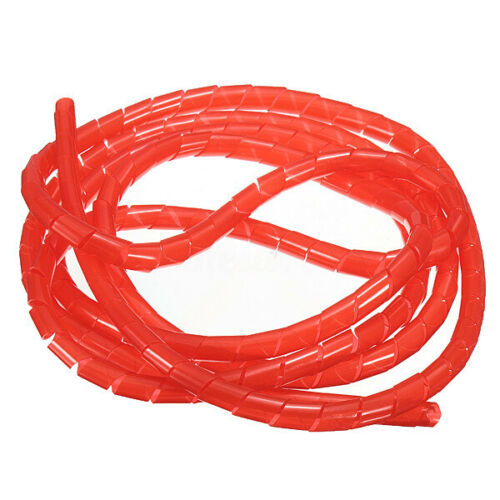 2//5//10M Spiral Tube Flexible Cord PC Cinema Cable Wire Organizer Wrap Management